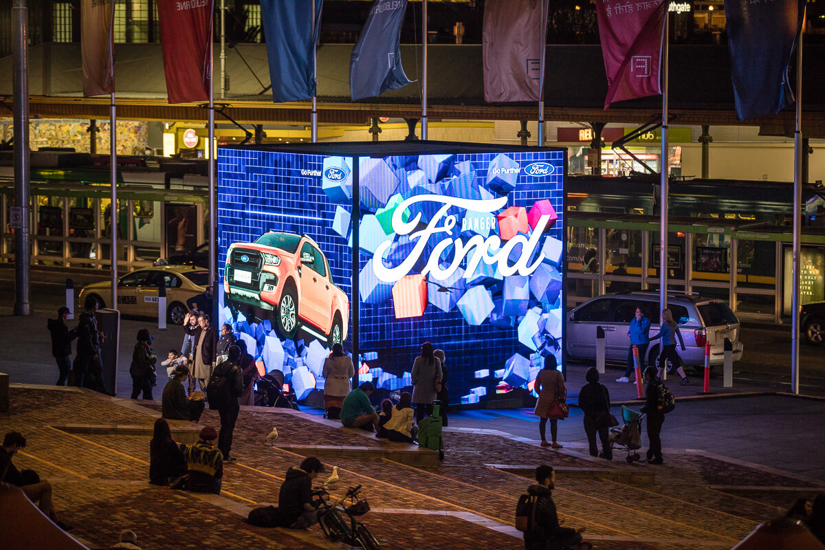 FORD Cube Federation Square Melbourne